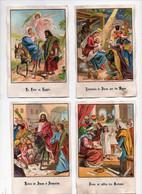 CHROMO Image Pieuse Entrée De Jésus à Jérusalem Au Milieu Des Docteurs Fuite En Egypte Adoration Par Mages (5 Chromos) - Non Classificati