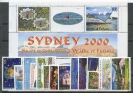 Wallis Et Futuna (2000) N 535 A 547 Et PA 220 + BF 9 - Unused Stamps