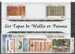 Wallis Et Futuna (2001) N 548 A 564 Et BF 10 - Unused Stamps