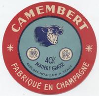 Etiquette Camembert, Vraux - Cheese