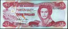 ♛ BAHAMAS - 3 Dollars L.1974 (1984) UNC P.44 - Bahamas