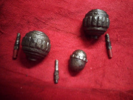 Lot 3 Grenades Allemandes - Decorative Weapons