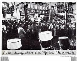 CP Réf : H734) ALBI (TARN 81) Les Agriculteurs à La Préfecture (le 31 Mai 1980) - Albi