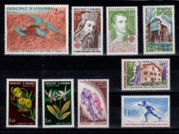 Andorre - Année Complète 1980 - YV 282 à 290 N** Cote 14,40 Euros - Años Completos
