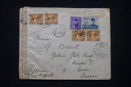 EGYPTE - Enveloppe De Faggala Pour Tunis En 1950 Par Avion Avec Contrôle Postal - L 99352 - Storia Postale