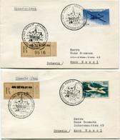 FRANCE ENVELOPPES RECOMMANDEES AFFRANCHIES AVEC LES PA 38/41 DEPART KAYSERSBERG 14 JAN 1965 HT RHIN POUR LA SUISSE - 1960-.... Covers & Documents