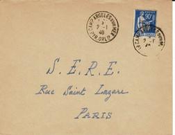 Réfugié Espagnol Rare Lettre De Argeles Au SERE 2.1.40 - Guerra De 1914-18
