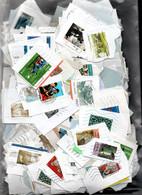 V6  Ensemble De 500 Timbres  De France Sur Fragment En Euros. PORT 2.56 EUROS OFFERT A Saisir !!! - Collections (with Albums)