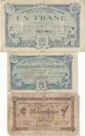 Tarn 3 Billets 50 C Et 1 F 1914 Et 1917 JP.005.08 (RARE) - JP.005.09 - JP.005.13 - Camera Di Commercio