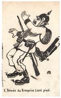 Caricature Anti Kaiser - L'armée Du Kronprinz Tient Pied - Umoristiche