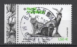 FRANCE 2021 - Timbre - Europa - Faune En Danger Oblitéré Cachet Rond - Gebruikt