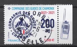 FRANCE 2021 - Timbre Compagnie Des Guides De Chamonix  Oblitéré Cachet Rond - Gebruikt