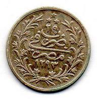 EGYPT - ABDUL HAMID II, 2 Qirsh, Silver, Year 29 - AH1293 (1876), KM #293 - Egipto
