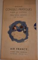 AIR FRANCE - Conseils Pratiques Pour Le Voyage - Manuali