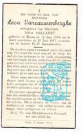 DP Leon Vancauwenberghe ° Ronse 1884 † Gent 1951 X Maria Hallaert - Imágenes Religiosas