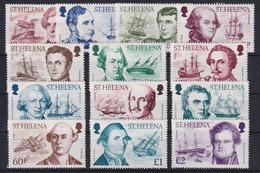 St. Helena 1986 Entdecker Und Ihre Schiffe Mi.-Nr. 452-464 Postfrisch ** - Isla Sta Helena