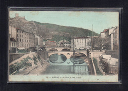 (08/06/21) 38-CPA VIENNE - CARTE TOILEE COLOREE - Vienne