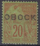 OBOCK : ALPHEE DUBOIS 20c N° 16 NEUF * GOMME AVEC CHARNIERE - TRES FRAIS - Nuovi