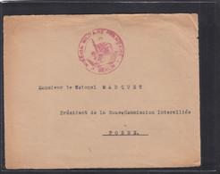 DEVANT DE LETTRE ADRESSEE AU COLONEL,CHEF DE LA MISSION FRANCAISE A POSEN (POZNAN),POLOGNE. - WW I