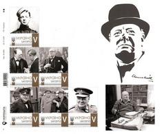 Ukraine 2021, Global Politicis, Winston Churchill & Franklin Roosevelt, Sheetlet Of 6v - Oekraïne
