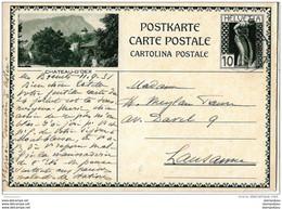 """10-94 - Entier Postal Avec Illustration """"Chateau D'Oex"""" 1931 - Attention Très Léger Pli En Bas à Droite - Entiers Postaux"""