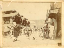 090621 - PHOTO ANCIENNE 1907 - ORAN Devant Le Marché Du Village Nègre - Tabac - Oran