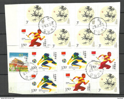 CHINA Many Stamps On Over Out Cut Sport Etc. - Collections, Lots & Series