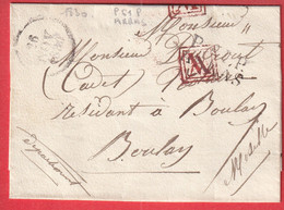 MARQUE P61P ARRAS PORT VERIFIE 1830 POUR BOULAY MOSELLE INDICE 8 - 1801-1848: Precursors XIX