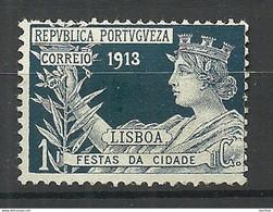 PORTUGAL 1913 Michel 1 Zwangzuschlagsmarke Lisboa Festas Da Cidade (*) - Unused Stamps