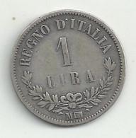 Italie - 1 Lira - 1863 MBN - TB/TTB - 1861-1878 : Victor Emmanuel II
