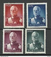 PORTUGAL 1945 Michel 685 - 688 President Carmona (*) - Unused Stamps