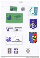 POLAND Polen 1990ies Stickers Labels Aufkleber Schilder Etc Pfadfinder Scouting Thema - Pfadfinder-Bewegung