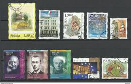 Poland Polska Polen 1999-2008, Lot 10 Stamps, O - Zonder Classificatie