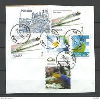 Poland POLEN O 2021 Briefstück Mit Interessante Briefmarken Skisprung Lahti Finland 2001 Sport Etc. - Gebruikt