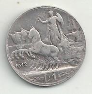 Italie - 1 Lire - 1912 - TB/TTB - 1900-1946 : Victor Emmanuel III & Umberto II