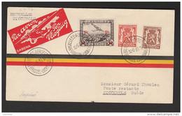 BELGIUM 1936 Air Mail Cover Luchtpost Bruxelles To Schweden Stockholm - Airmail