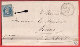 N°29 GC 6005 GRAVESON BOUCHES DU RHONE CAD TYPE 24 POUR SENAS INDICE 12 - 1849-1876: Klassik