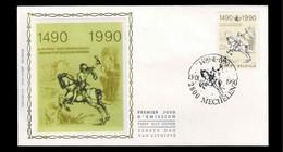 FDC Zijde : Nr 2350:  Stempel: 2800 Mechelen - 1981-90