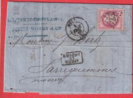 N°32 GC 2336 METZ MOSELLE POUR SARREGUEMINES 1868 - 1849-1876: Periodo Clásico