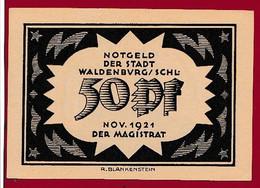 Allemagne 1 Notgeld  De 50 Pf Stadt Waldenburg  (RARE--Silésie--Pologne---Walbrzych )  Dans L 'état   Lot N °138 - Colecciones