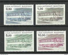 FINLAND FINNLAND 1981 Autopaketti Auto-Paketmarken Michel 14 - 17 MNH - Paketmarken
