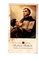 "12625 "" EX CAPSA SEPULCRI-BEATO LUCA BELLUDI-PROTEGGI LA GIOVENTU' STUDIOSA-CON RELIQUIA "" - Devotion Images"