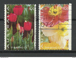 AUSTRALIA 1994 Michel 1392 & 1393 D Thinking Of You Flowers O - Ohne Zuordnung