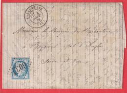 N°60 GC 6032 BARBENTANE BOUCHES DU RHONE  POUR BOUGIVAL SEINE ET OISE INDICE 11 - 1849-1876: Klassik