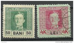 ÖSTERREICH Austria 1915/17 Feldpost In Romania  */o - Usados