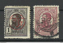 ROMANIA Rumänien 1918 Michel 248 & 250 Mint & Used - Gebraucht