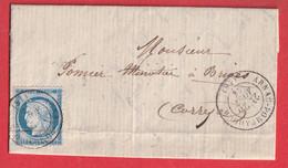 N°60 CAD TYPE 17 ARNAC POMPADOUR CORREZE 1876 POUR BRIVE - 1849-1876: Periodo Clásico