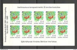 FINLAND FINNLAND 1991 Michel 1129 MNH Selbstklebende Folienblatt - Nuevos
