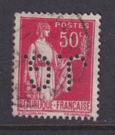 Perforé/perfin/lochung France No 283 J.G. J. Gaucher - Perforés