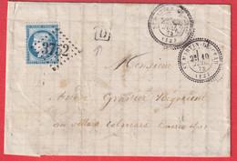N°60 GC3752 ST MARTINDE CRAU BOUCHES DU RHONE CAD TYPE 24 BOITE URNAINE IDENTIFIEE LE MAS DE GRENIER COLMAR BASSES ALPES - 1849-1876: Klassik